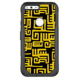 Elegant Minimal African Tribal Pattern Yellow Line OtterBox Commuter Google Pixel XL Case