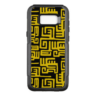 Elegant Minimal African Tribal Pattern Yellow Line OtterBox Commuter Samsung Galaxy S8+ Case