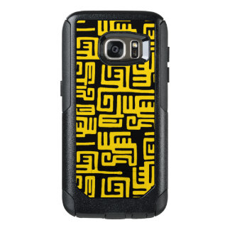 Elegant Minimal African Tribal Pattern Yellow Line OtterBox Samsung Galaxy S7 Case