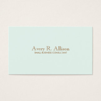 Elegant Minimalist Light Blue Professional Business Card
