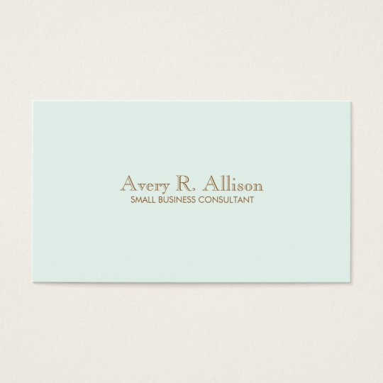 Elegant Minimalist Light Blue Professional Business Card