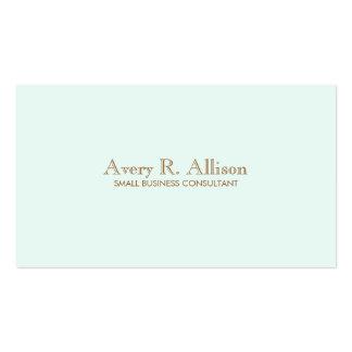 Elegant Minimalist Light Blue Professional Pack Of Standard Business Cards