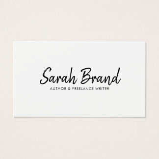 Elegant Minimalist Modern Professional Business Card