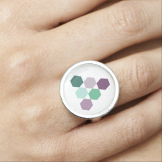 elegant mint and lavender geometric hexagons