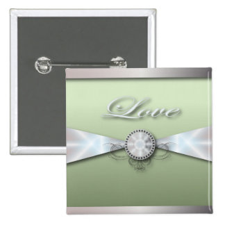 Elegant Mint Green Wedding Invitation and Favor Pins