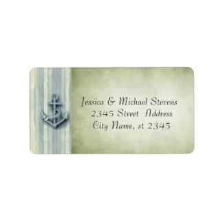 Elegant modern anchor nautical vintage label