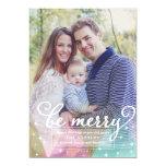 Elegant Modern Be Merry Christmas Photo Card 13 Cm X 18 Cm Invitation Card