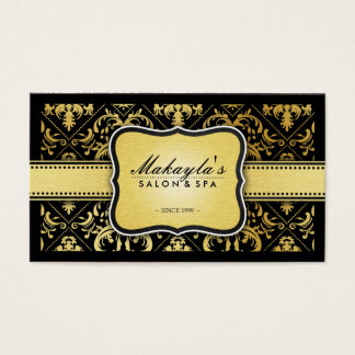 Gold And Pink Damask Business Cards - Business Card Printing ...