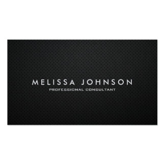 Elegant & Modern Black and Silver Professional Double-Sided Standard Business Cards (Pack Of 100)