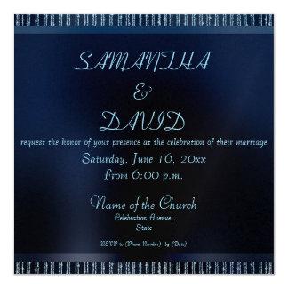 Elegant Modern Blue Sparkling Wedding invitations