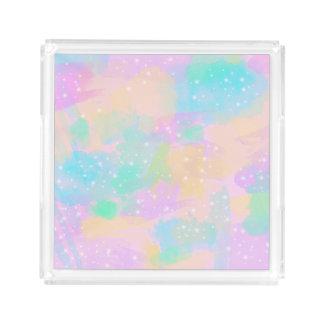 elegant modern bright pastel watercolor acrylic tray
