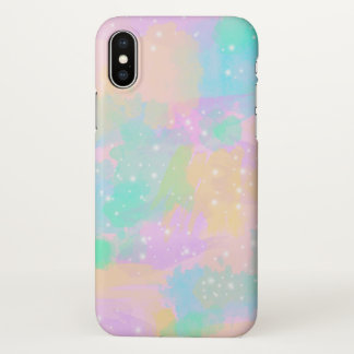 elegant modern bright pastel watercolor iPhone x case