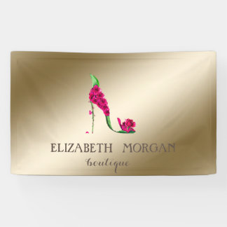 Elegant Modern Chic  ,Luminous,Flowers High Heel Banner