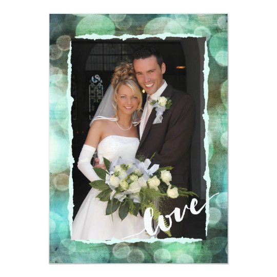Elegant Modern Chic Wedding Photo Thank You Card