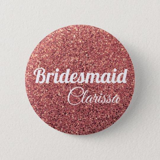 elegant modern chick rose gold glitter bridesmaid 6
