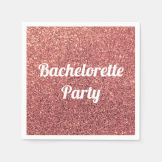 elegant modern chick rose gold glitter bridesmaid paper napkins