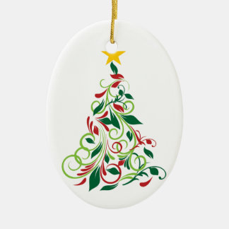 Elegant Modern Christmas tree Illustration Christmas Ornament