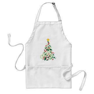 Elegant Modern Christmas tree Illustration Standard Apron