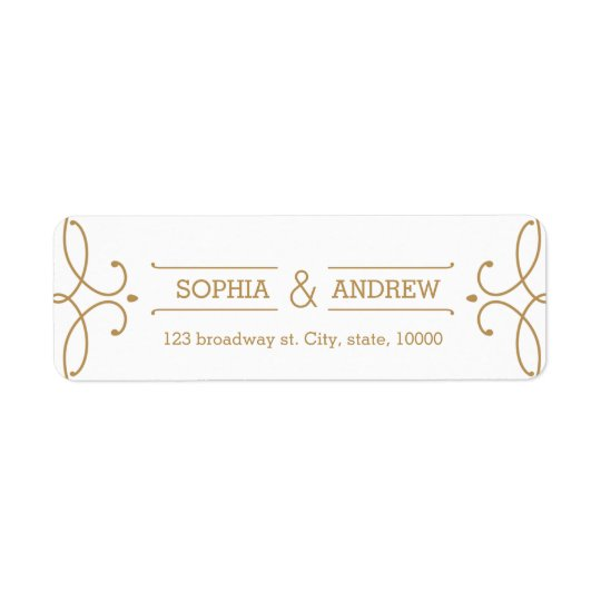 Elegant modern classic vintage return address return address