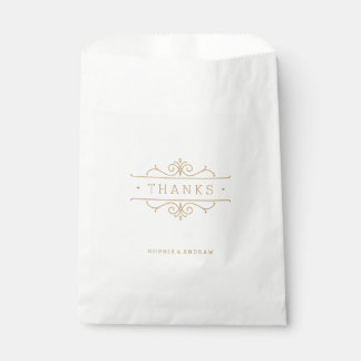 Elegant modern classic vintage wedding monogram favour bags