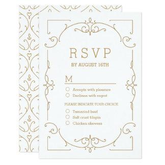 Elegant modern classic vintage wedding RSVP Card