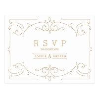 Elegant modern classic vintage wedding RSVP