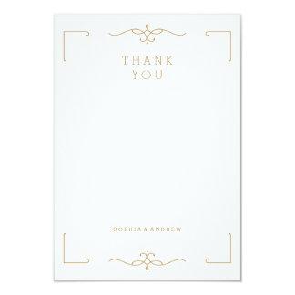 Elegant modern classic vintage wedding thank you card