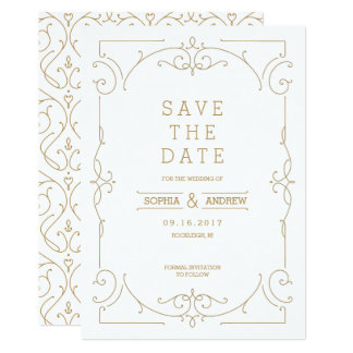 Elegant modern classic wedding save the date card