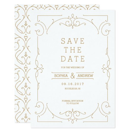 Elegant modern classic wedding save the date card