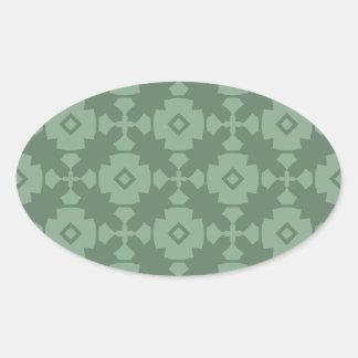 Elegant Modern Classy Retro Oval Sticker