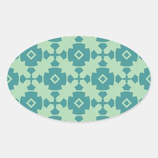 Elegant Modern Classy Retro Oval Stickers