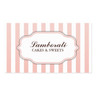Elegant Modern Cute Pink and White Groupon Pack Of Standard Business Cards