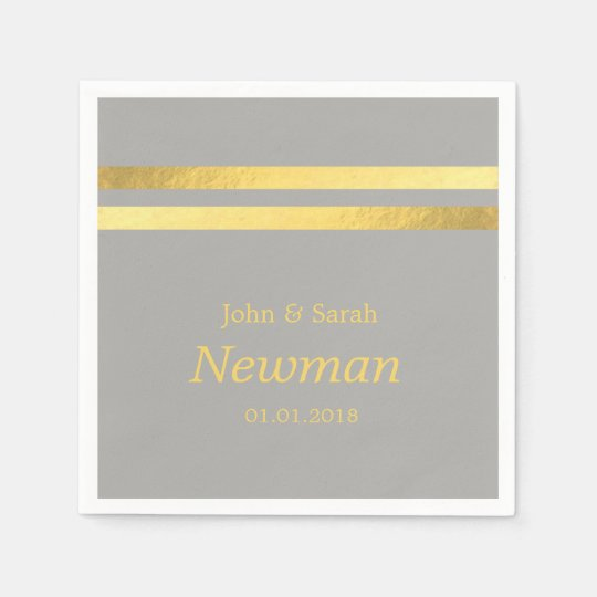 elegant modern faux gold foil geometric wedding disposable