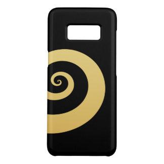 elegant modern faux gold geometric spiral Case-Mate samsung galaxy s8 case