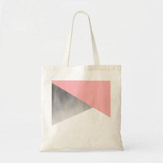 elegant modern faux silver foil pink geometric
