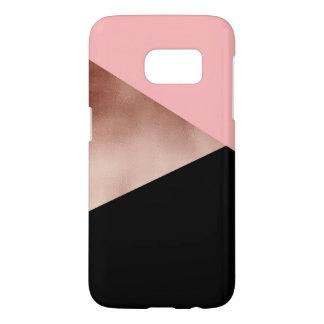 elegant modern geometric rose gold pink black