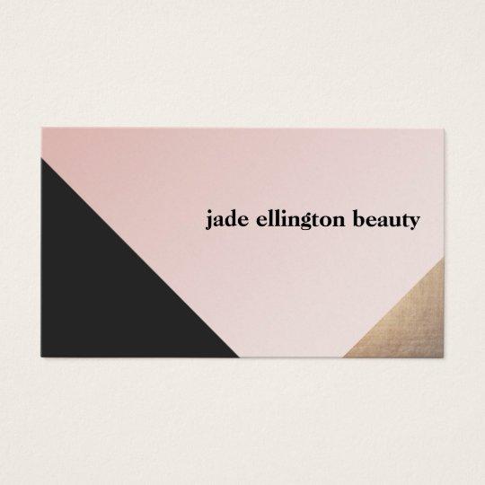 Elegant Modern Gold, Black and Pink Geometric Business