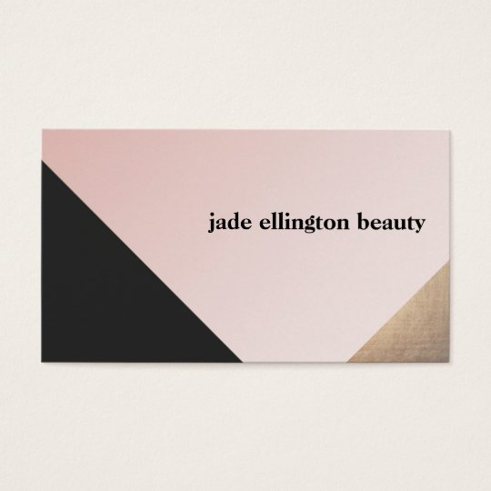 Elegant Modern Gold, Black and Pink Geometric Business