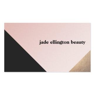 Elegant Modern Gold, Black and Pink Geometric Pack Of Standard Business Cards