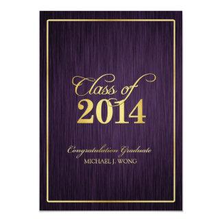 Elegant Modern Gold Class of 2014 Graduation Card