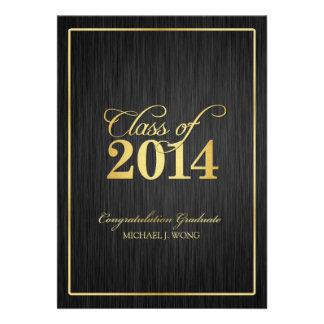 Elegant Modern Gold Class of 2014 Graduation Custom Invite