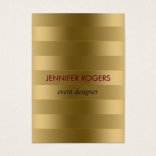 Elegant Modern Gold Tones Stripes Pattern Business Card