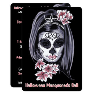 elegant modern halloween cinco de mayo invitation