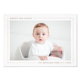 Elegant Modern Happy Holidays Photo Card