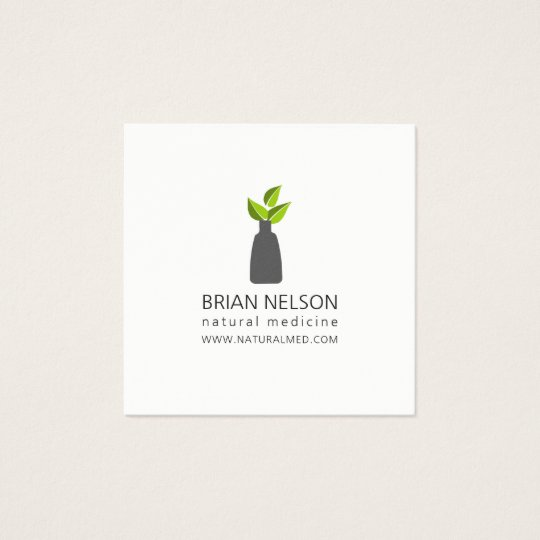 Elegant Modern Holistic Medicine Minimalist Square Business Card