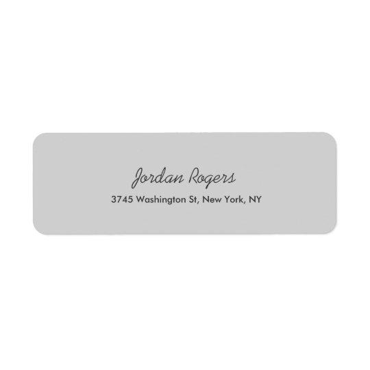 Elegant Modern Light Grey Handwriting Professional
