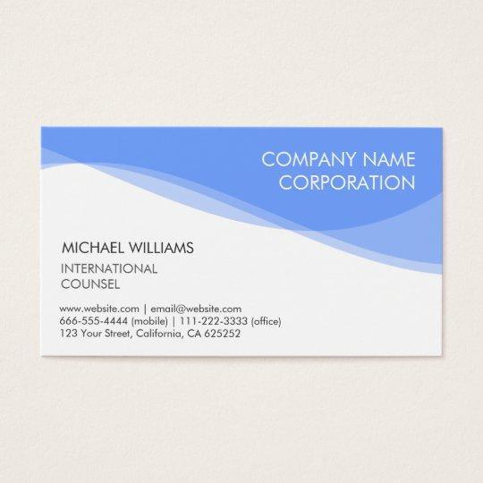 ELEGANT MODERN MINIMALIST BLUE TARGET BUSINESS CARD