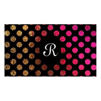 Elegant Modern Monogram Red Gold Pattern Wedding Pack Of Standard Business Cards