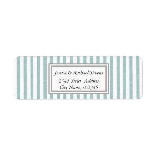 Elegant modern narrow stripes return address label