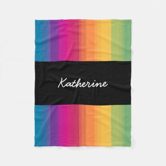 Elegant modern ombre gradient colourful rainbow fleece blanket